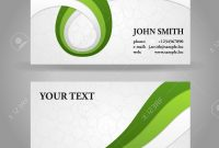Green And Gray Modern Business Card Template With Ribbons Royalty inside Calling Card Free Template