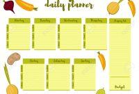 Green Colorful Modern Paper Note Week Healthy Eating Doodle regarding Breakfast Lunch Dinner Menu Template