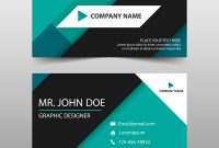 Green Corporate Business Card Name Card Template Vector Image inside Buisness Card Template
