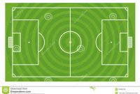 Green Football Field Template Stock Illustration  Illustration Of intended for Blank Football Field Template
