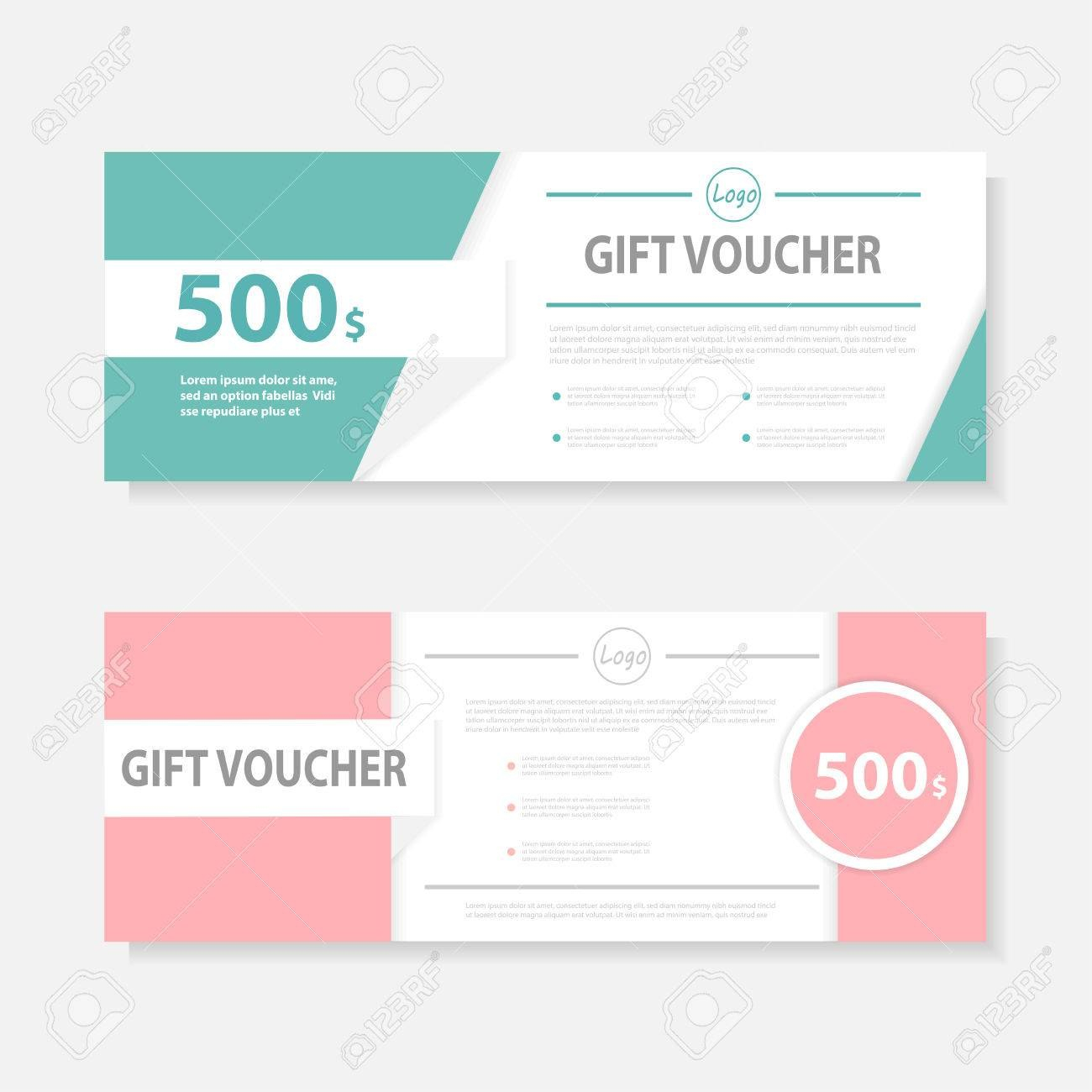 Green Pink Gift Voucher Template With Colorful Patterncute Gift For Pink Gift Certificate Template