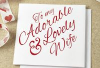 Greeting Card Adorable Wedding Anniversary Card Template For Wife in Template For Anniversary Card