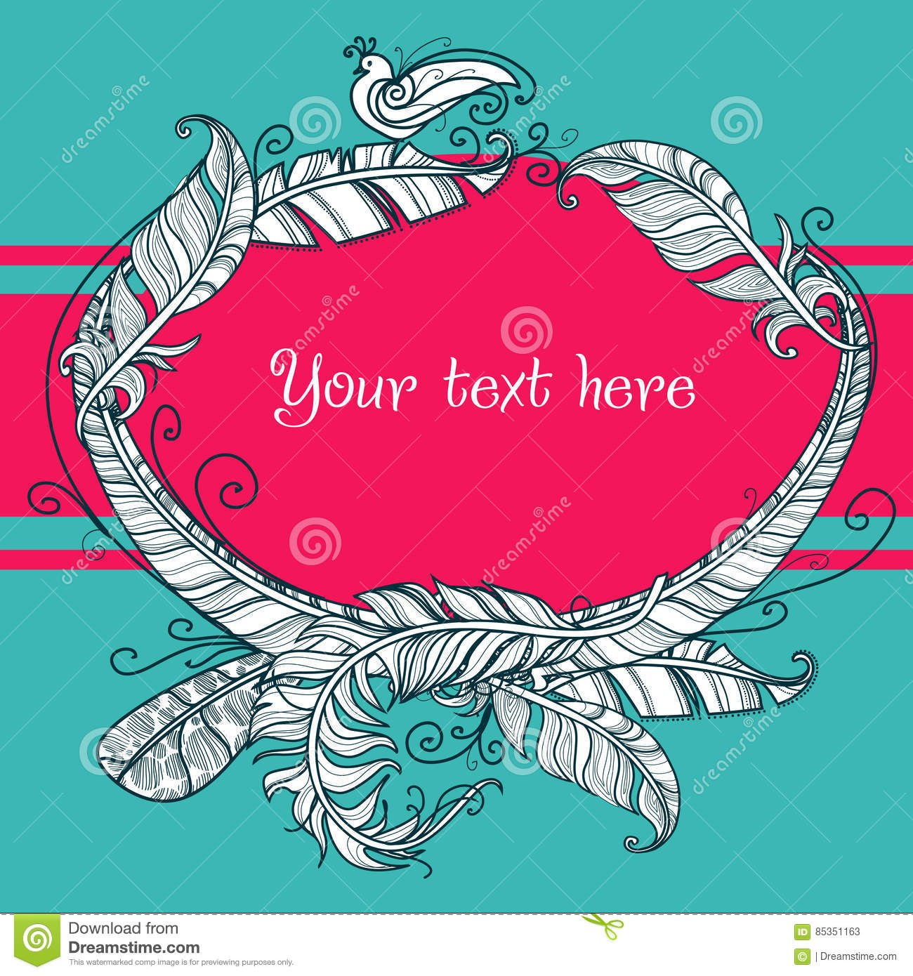 Greeting Card Template Square Format Stock Vector  Illustration Regarding Small Greeting Card Template