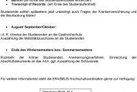 Grundinformationen Zum Erasmusprogramm Für Studierende Der inside Erasmus Bilateral Agreement Template