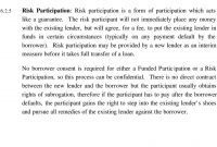 Guide To Syndicated Loans  Pdf in Risk Participation Agreement Template