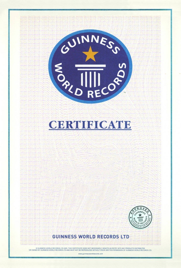 Guinness World Record Certificate Template – Alanbrooks In Guinness World Record Certificate Template