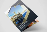 Half Fold Oil And Gas Brochure Template within Half Fold Menu Template