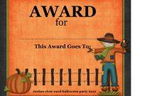Halloween Costume Certificates  Halloween At Amoeba Hollywood Sc in Halloween Costume Certificate Template