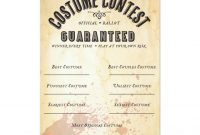 Halloween Costume Contest Official Ballot Card  Zazzle with regard to Halloween Costume Certificate Template