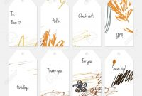 Hand Drawn Creative Tags Universal Shopping Sales Advertising for Universal Label Templates