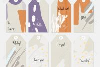 Hand Drawn Creative Tags Universal Shopping Sales Advertising intended for Universal Label Templates