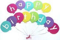 Happy Birthday Banner Diy Template  Balloon Birthday Banner Template with regard to Diy Party Banner Template