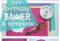 Happy Birthday Banner Diy Template  Diy Party Ideas Group Board intended for Diy Birthday Banner Template