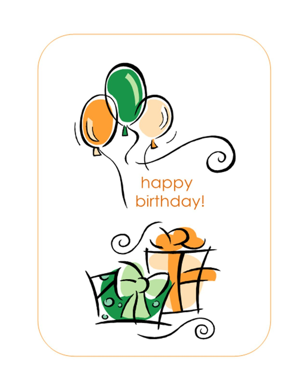 Happy Birthday Card With Balloons Quarterfold Throughout Birthday Card Publisher Template
