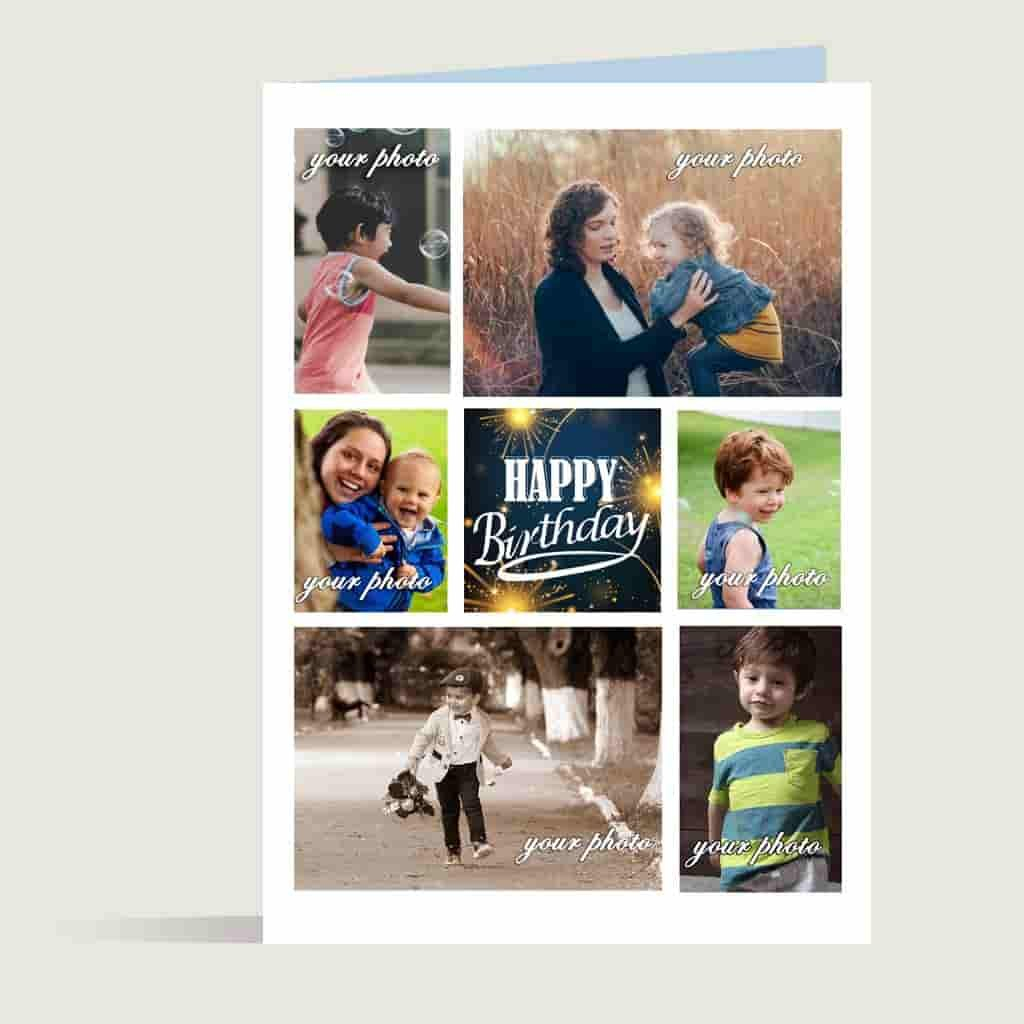 Happy Birthday Collage Greetings Cardbest Birthday Greetings Card Within Birthday Card Collage Template