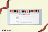 Happy Birthday Gift Certificate Design Template In Psd Word inside Gift Certificate Template Indesign