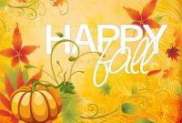 Happy Fall Powerpoint Template  Fall Thanksgiving Powerpoints pertaining to Free Fall Powerpoint Templates