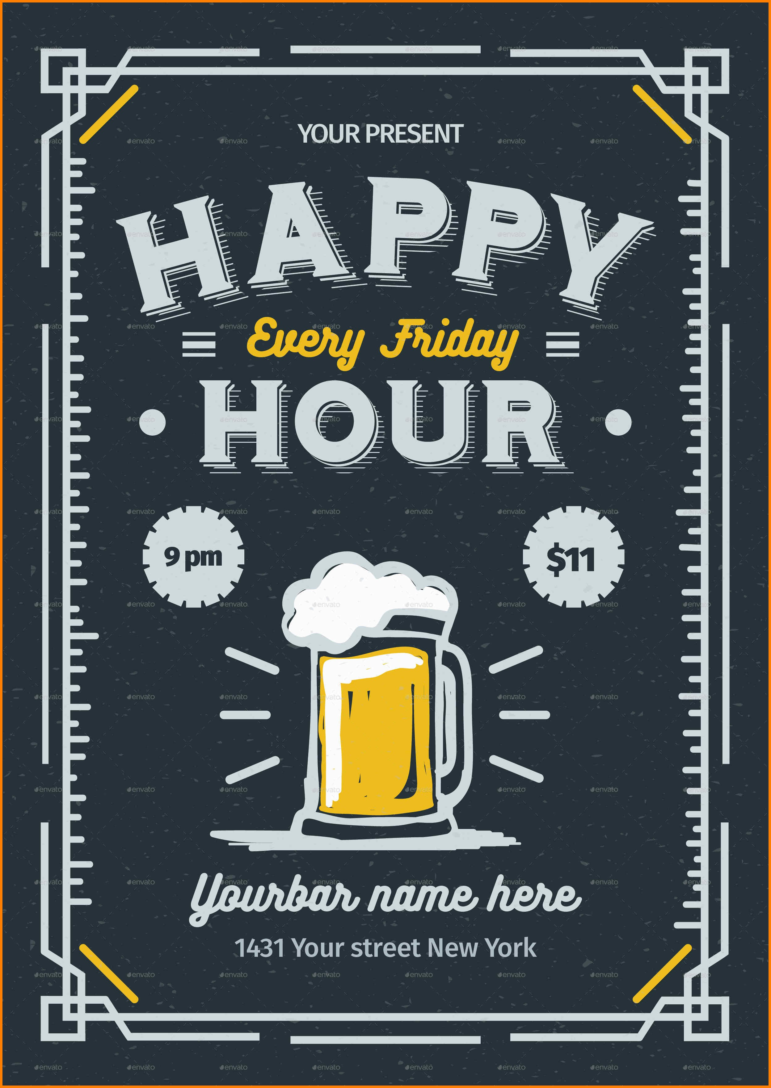 Happy Hour Menu Template  Plasticmouldings With Regard To Happy Hour Menu Template