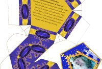 Harry Potter Paraphernalia Chocolate Frogs Box Template with Chocolate Frog Card Template