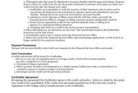 Hartwick College Credit Card Policy intended for Corporate Credit Card Agreement Template