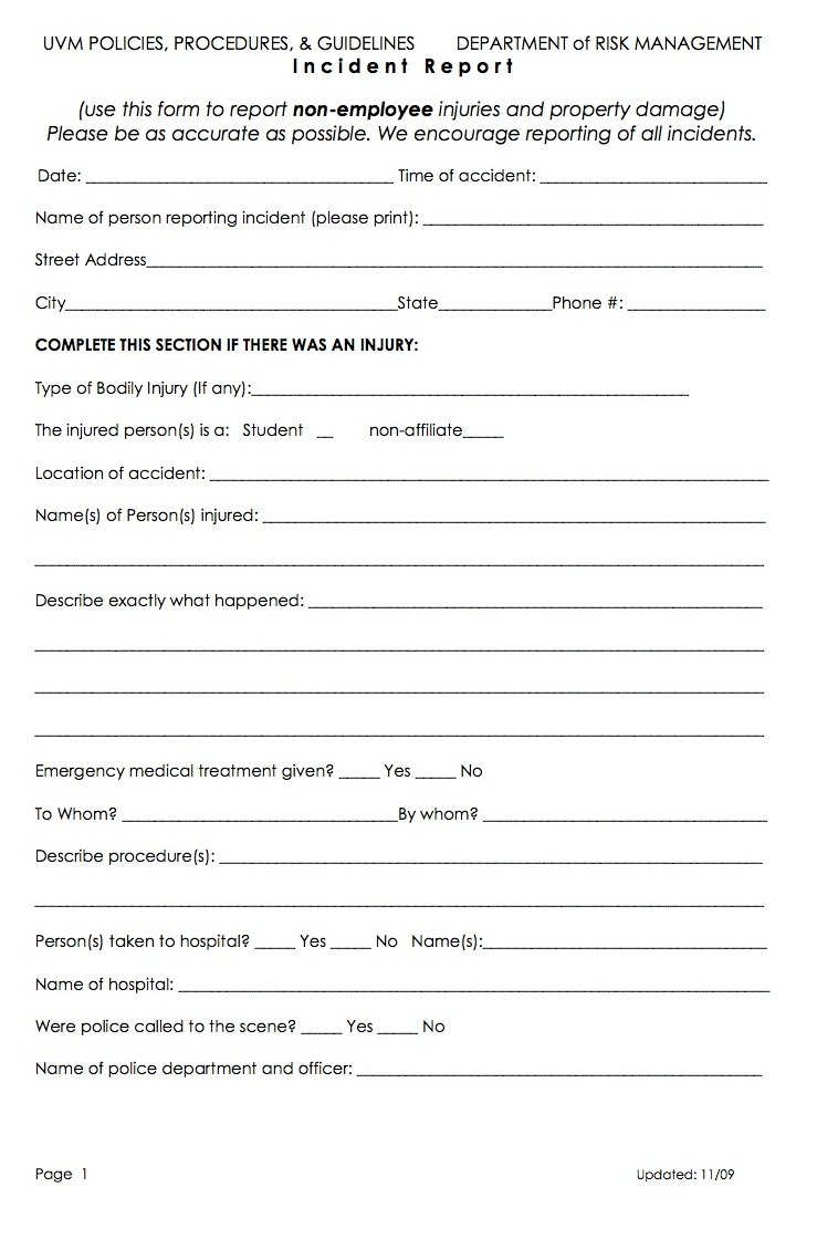 Health Incident Report Form  Sansurabionetassociats Throughout Ohs Incident Report Template Free