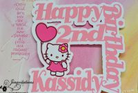 Hello Kitty Birthday Party Invitations Banner Cupcake Toppers pertaining to Hello Kitty Banner Template