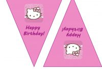 Hello Kitty Party Pack  Free Printables Keeping It Real in Hello Kitty Birthday Banner Template Free
