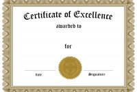 Helloalive Certificate Templates Free Printable Of Excellence within Award Of Excellence Certificate Template