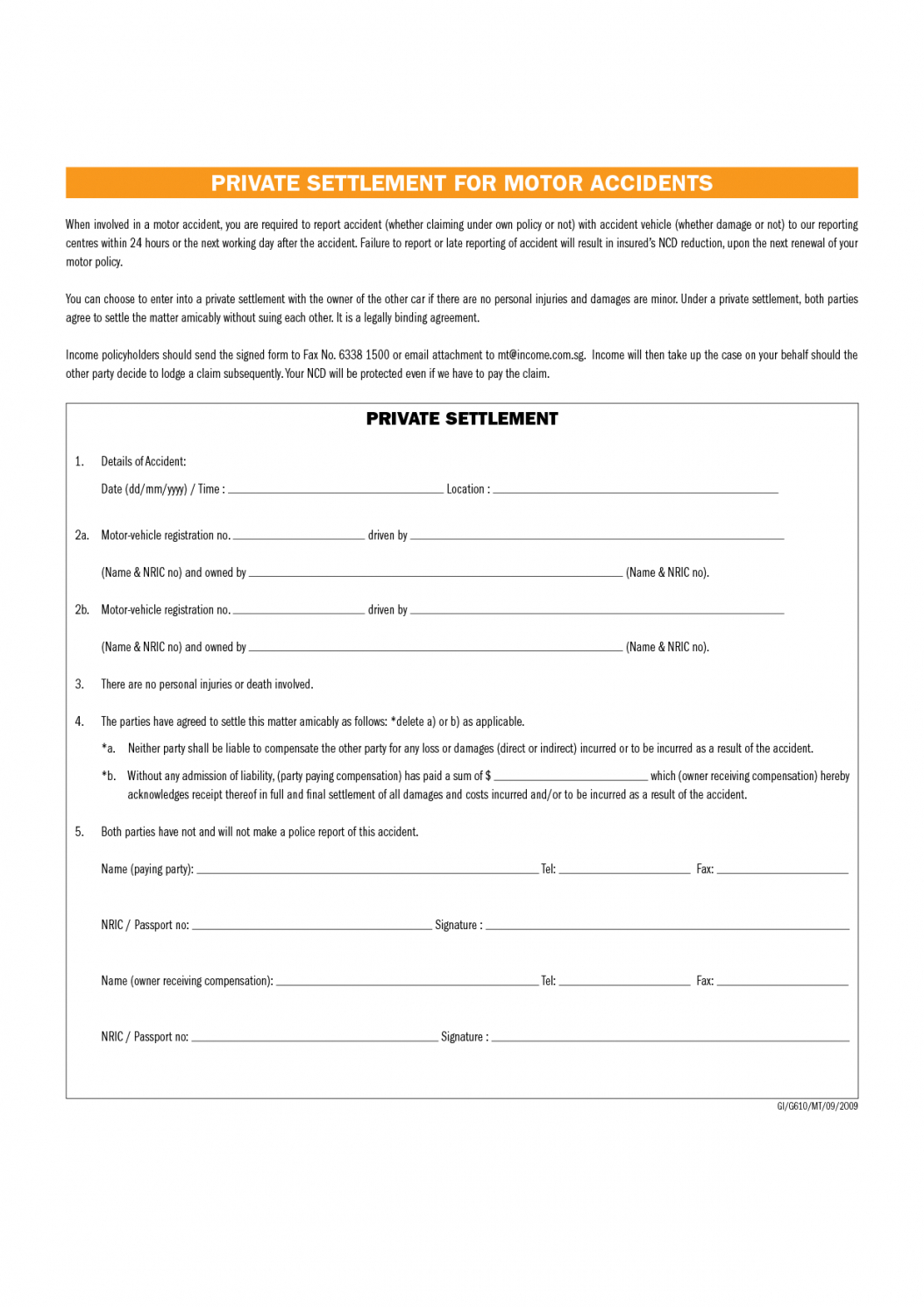 Here The Full And Final Settlement Letter Template Car Accident Intended For Damages Settlement Agreement Template