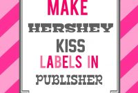 Hershey Kiss Pattern Hershey Kiss Label Template  Ghnbmxtl with regard to Free Hershey Kisses Labels Template