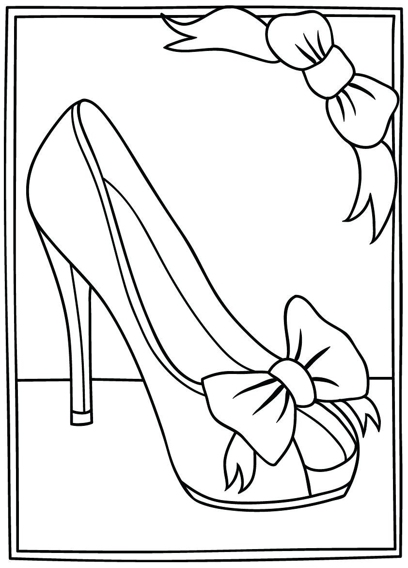High Heel Drawing Template At Paintingvalley  Explore With High Heel Shoe Template For Card