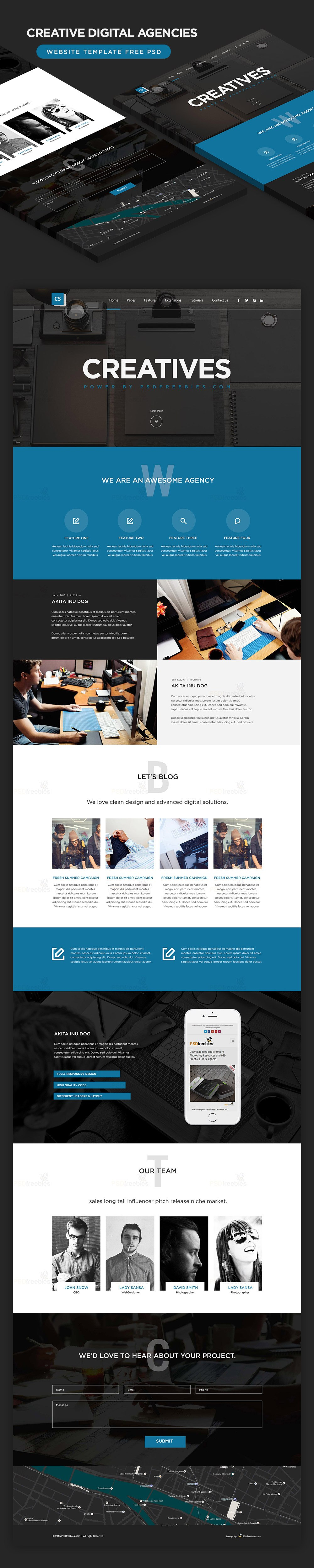High Quality  Free Corporate And Business Web Templates Psd With Regard To Free Psd Website Templates For Business