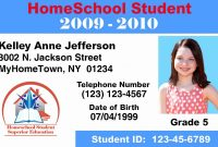 High School Id Card Template  Lividrecords within High School Id Card Template