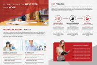 Higher Educational Brochure Template throughout Brochure Design Templates For Education