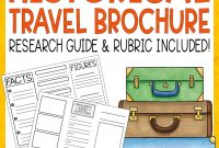 Historical Travel Brochure And Research Project  Literacy In Focus pertaining to Brochure Rubric Template