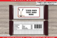 Hockey Hershey Candy Bar Wrappers  Personalized Candy Bars throughout Hershey Labels Template