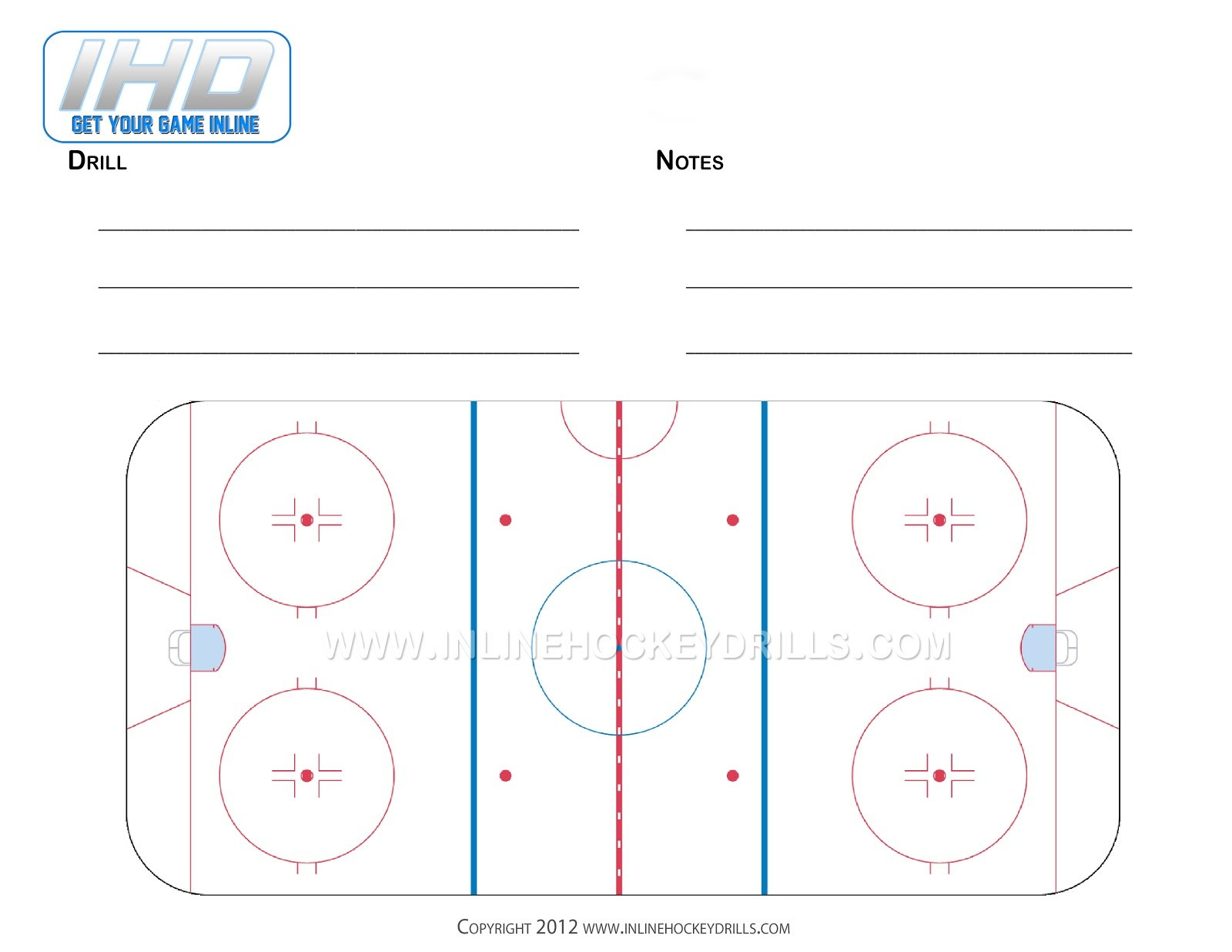 Hockey Practice Plan Template Full Rink Blank ~ Tinypetition Inside Blank Hockey Practice Plan Template