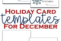 Holiday Card Templates  Teaching Elementary  Beyond for Holiday Card Email Template