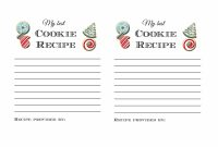 Holiday Cookie Exchange Party Printables And Ideas Tips Forrent with Cookie Exchange Recipe Card Template