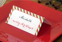 Holiday Place Card Diy Printable regarding Place Card Setting Template