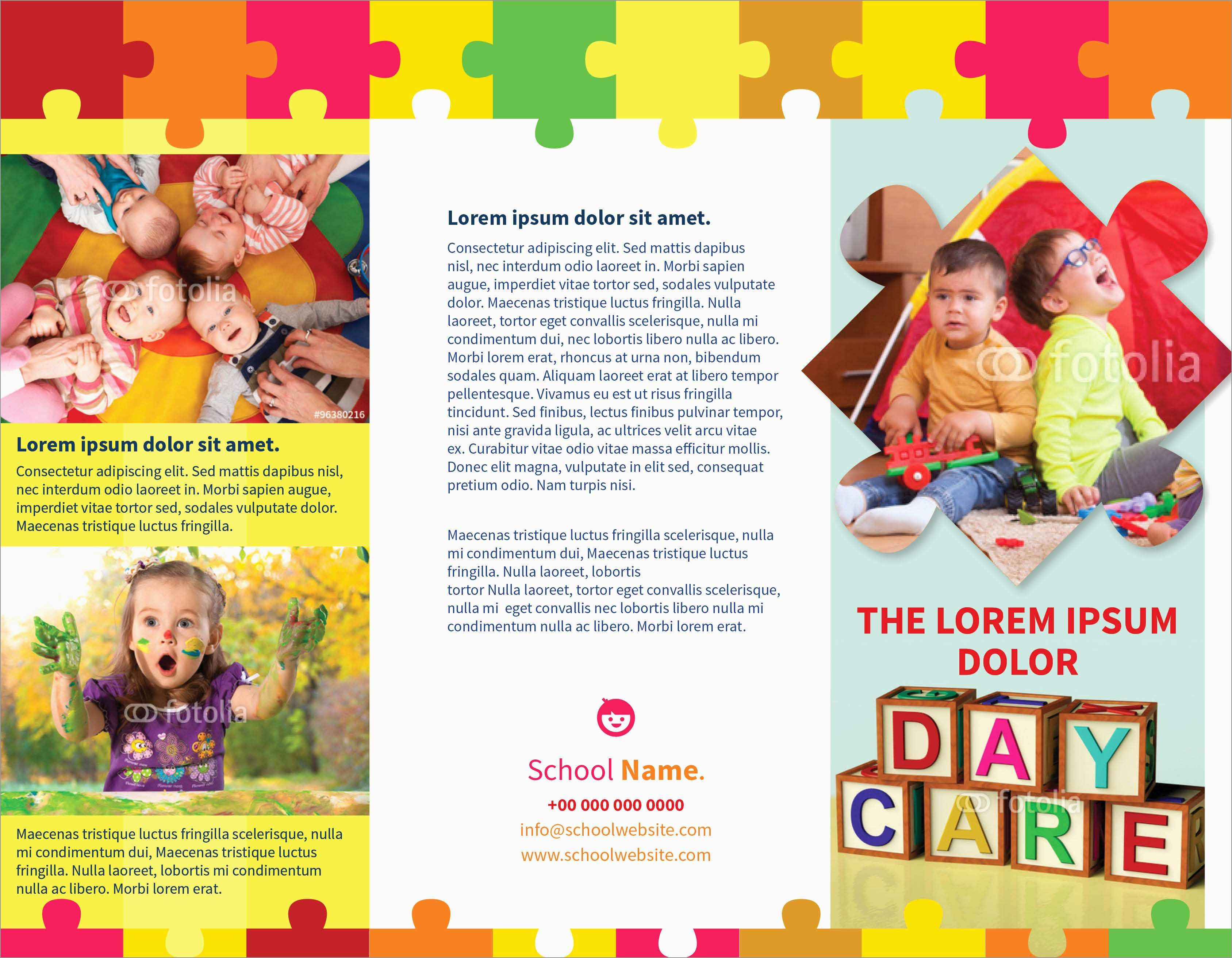 Home Daycare Flyers Free Templates Astonishing Day Care Brochure intended for Daycare Brochure Template