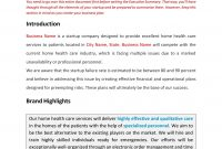 Home Health Care Business Plan Template Sample Pages  Black Box within Health Care Business Plan Template