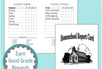 Home School Report Cards  Flanders Family Homelife with Homeschool Report Card Template