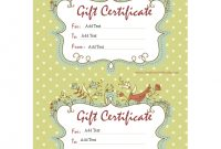 Homemade Gift Certificate Word  How To Create A Homemade Gift with Homemade Gift Certificate Template