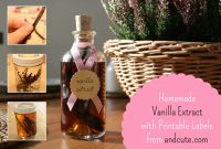 Homemade Vanilla Extract – With Printable Labels within Homemade Vanilla Extract Label Template