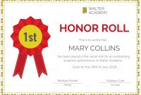 Honor Roll Certificate Design Template In Psd Word Publisher with regard to Honor Roll Certificate Template