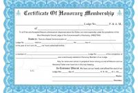 Honorary Membership Certificate Template Word in Life Membership Certificate Templates