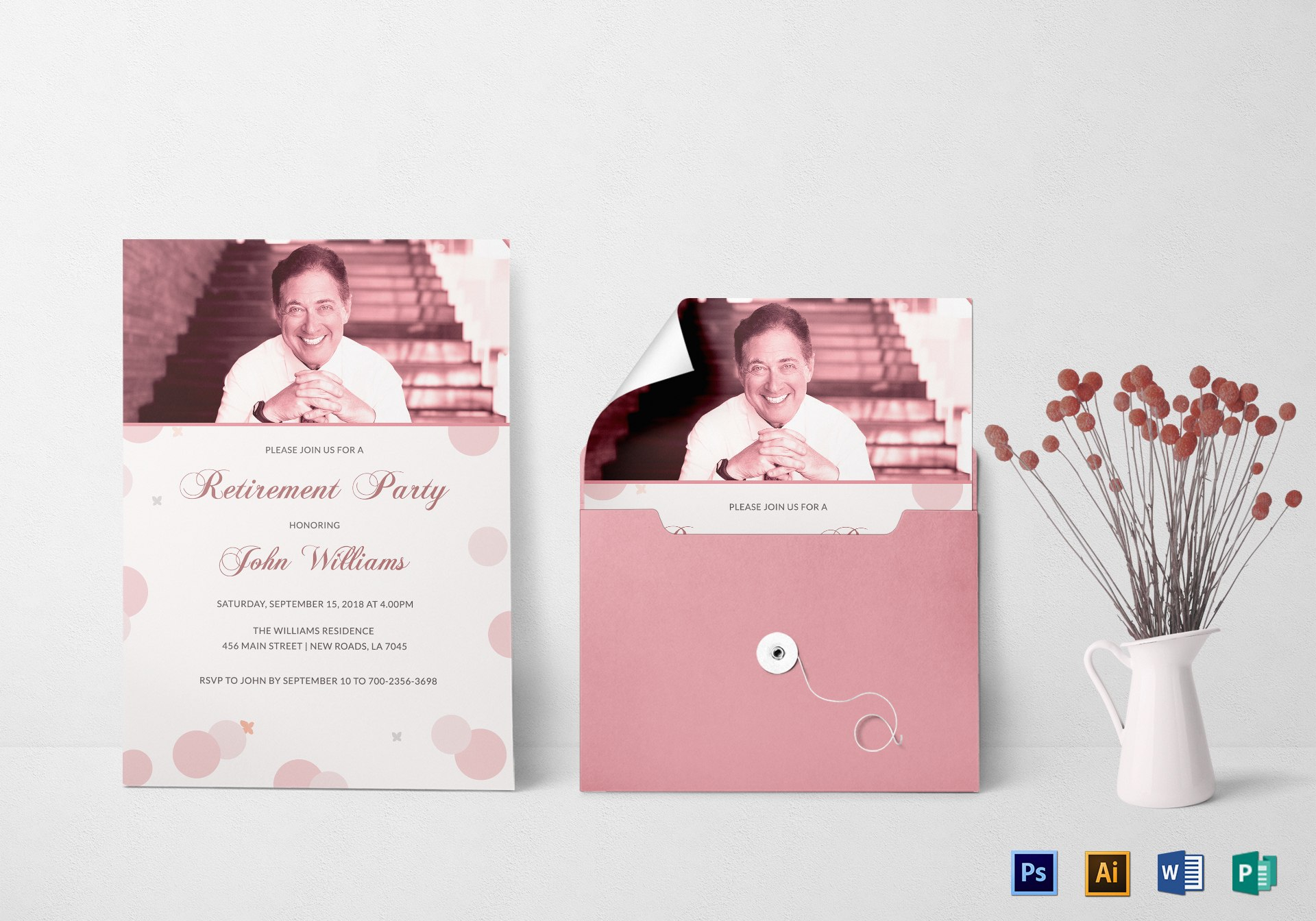 Honored Retirement Party Invitation Card Design Template In Psd Intended For Retirement Card Template