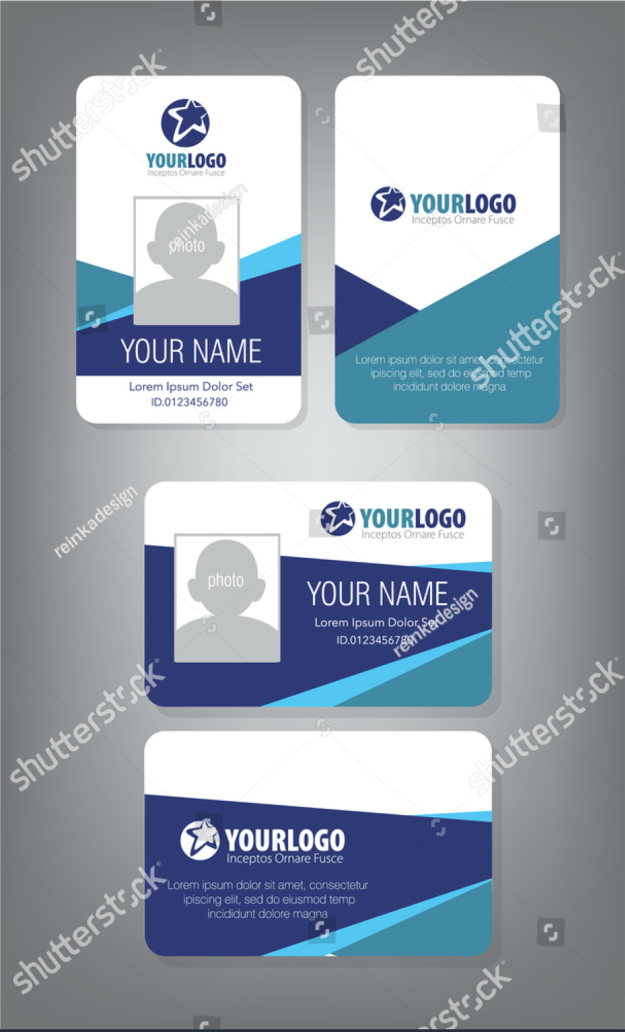 Horizontalverticalidcarddesign  Employee Id Card  Id Card For Personal Identification Card Template
