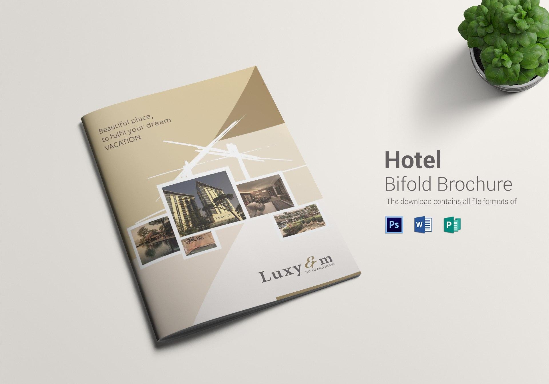 Hotel Bi Fold Brochure Design Template In Word Psd Publisher With Hotel Brochure Design Templates